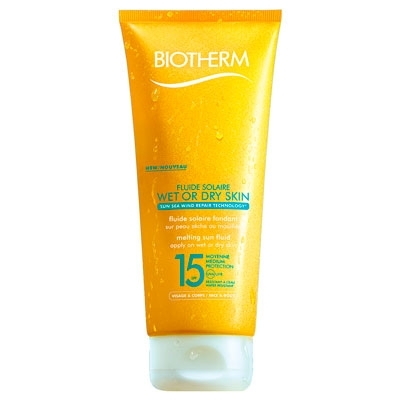 Fluide Solaire Wet Or Dry Skin SPF15